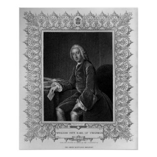 Portrait of William Pitt, 1st Earl of Chatham Poster