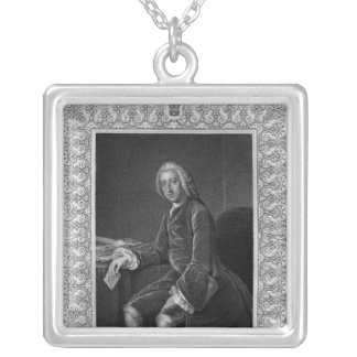 Portrait of William Pitt, 1st Earl of Chatham Silver Plated Necklace