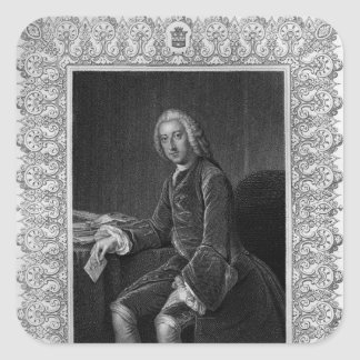 Portrait of William Pitt, 1st Earl of Chatham Square Sticker