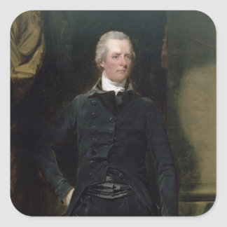 Portrait of William Pitt the Younger Square Sticker