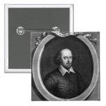 Portrait of William Shakespeare  1719 2 Inch Square Button