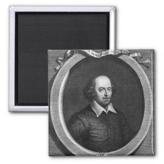 Portrait of William Shakespeare  1719 2 Inch Square Magnet