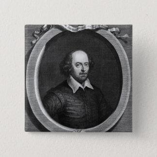 Portrait of William Shakespeare  1719 Pinback Button