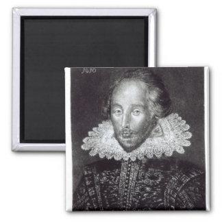 Portrait of William Shakespeare 2 Inch Square Magnet