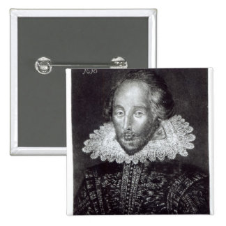 Portrait of William Shakespeare Button