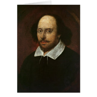 Portrait of William Shakespeare  c.1610 Card