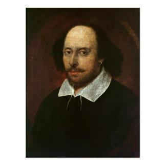 Portrait of William Shakespeare  c.1610 Postcard