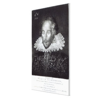 Portrait of William Shakespeare Canvas Print