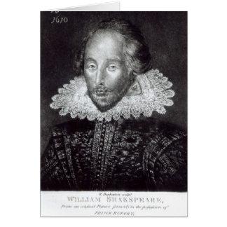 Portrait of William Shakespeare Card
