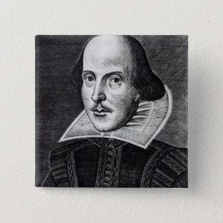 Portrait of William Shakespeare Pinback Button