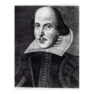 Portrait of William Shakespeare Postcard