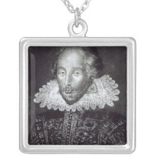 Portrait of William Shakespeare Silver Plated Necklace