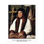 Portrait Of William Warham Archbishop Postcard