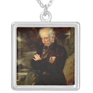 Portrait of William Wordsworth  1842 Silver Plated Necklace