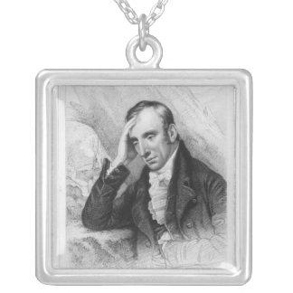 Portrait of William Wordsworth Square Pendant Necklace