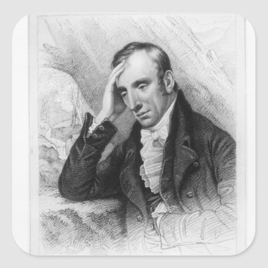 Portrait of William Wordsworth Square Sticker