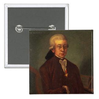 Portrait of Wolfgang Amadeus Mozart 2 Button