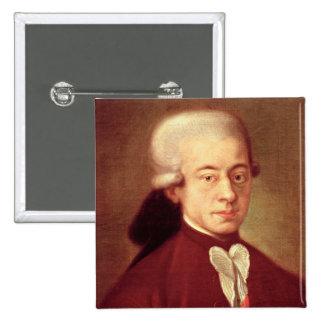 Portrait of Wolfgang Amadeus Mozart  after 1770 Pinback Button