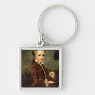 Portrait of Wolfgang Amadeus Mozart  aged Keychain