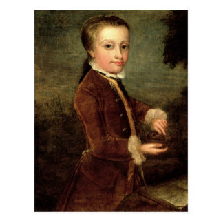 Portrait of Wolfgang Amadeus Mozart  aged Postcard