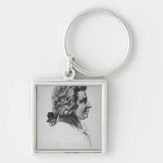 Portrait of Wolfgang Amadeus Mozart Keychain