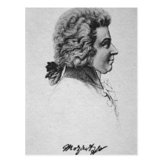 Portrait of Wolfgang Amadeus Mozart Post Cards