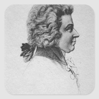 Portrait of Wolfgang Amadeus Mozart Square Sticker