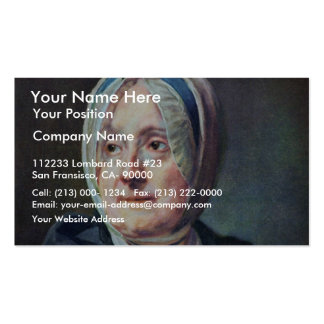Portrait Of Woman Chardin By Chardin Jean-Baptiste Double-Sided Standard Business Cards (Pack Of 100)