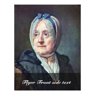 """Portrait Of Woman Chardin By Chardin Jean-Baptiste 8.5"""" X 11"""" Flyer"""