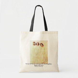 Portrait Of Woman Crelinger With Her Daughters Budget Tote Bag