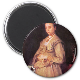 Portrait Of Woman Gedon By Leibl Wilhelm Magnet