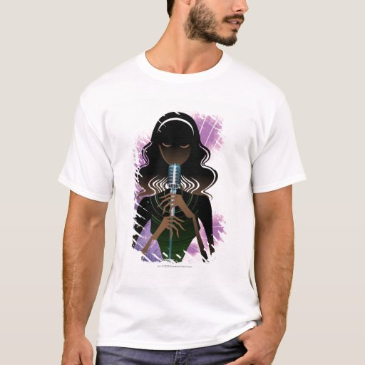 Portrait of woman holding microphone T-Shirt