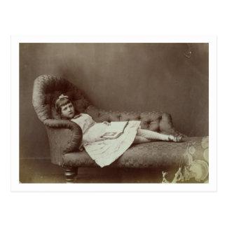 Portrait of Xie Kitchin (albumen print) Postcard