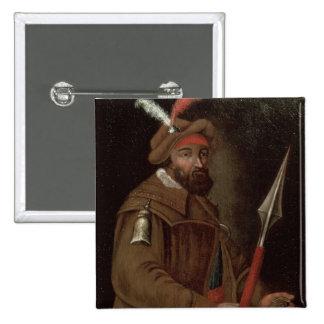 Portrait of Yermak Timofeyevich , 1700-50 Button