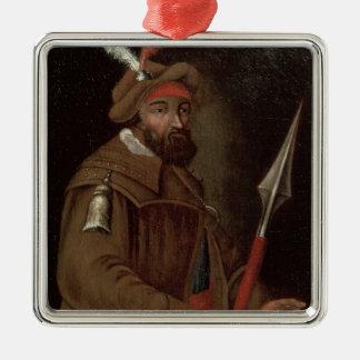 Portrait of Yermak Timofeyevich , 1700-50 Metal Ornament