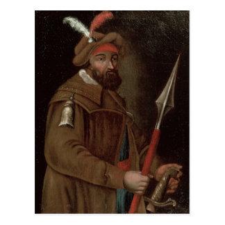 Portrait of Yermak Timofeyevich , 1700-50 Postcard