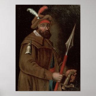 Portrait of Yermak Timofeyevich , 1700-50 Poster