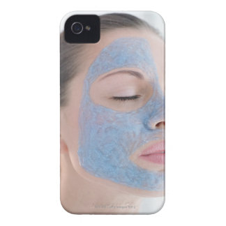 portrait of you woman with one face side covered Case-Mate iPhone 4 case