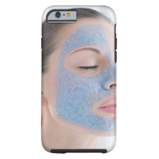 portrait of you woman with one face side covered tough iPhone 6 case