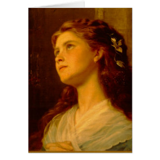 Portrait Of Young Girl Card