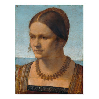 Portrait of Young Venetian Lady by Durer Postcard