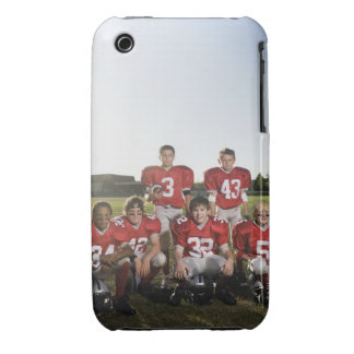 Portrait of youth football team on field iPhone 3 cases