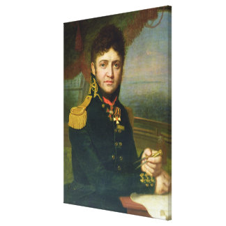 Portrait of Yuri F. Lisyansky, 1810 Canvas Print
