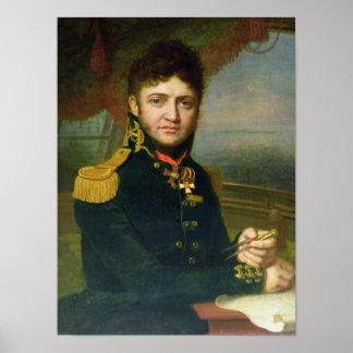 Portrait of Yuri F. Lisyansky, 1810 Poster