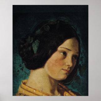 Portrait of Zelie Courbet, c.1842 Poster