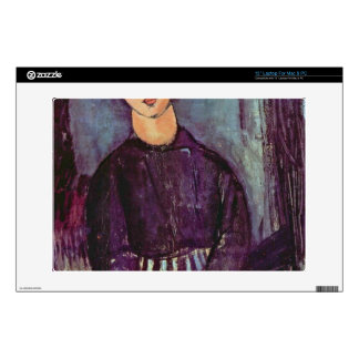 Portrait of Zofe by Amedeo Modigliani Skins For Laptops