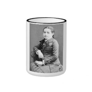 "PORTRAIT ""OLIVIA"" (1880s) Ringer Coffee Mug"