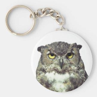 Portrait owl keychain
