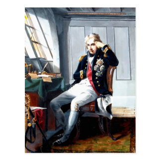 Portrait Painting Lord Nelson Postcard