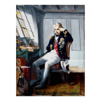 Portrait Painting Lord Nelson Poster